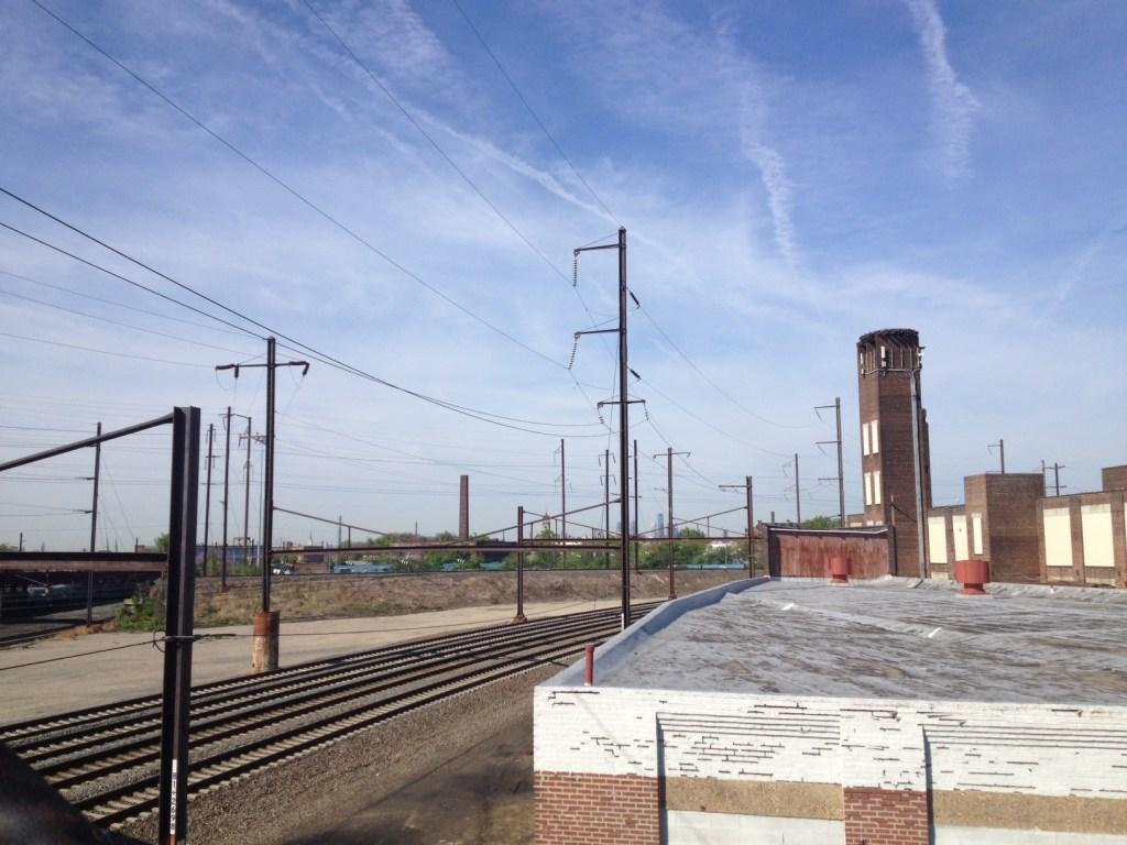 Amtrak tracks in Frankford