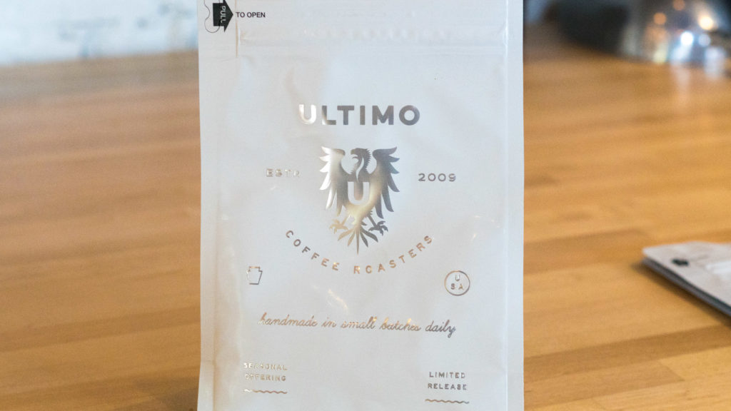 Ultimo brand coffee beans