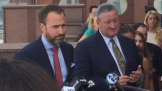 Mayor Jim Kenney and Kevin Washo, Executive Director of the Philadelphia 2016 Host Committee, want Philly residents to stick around.