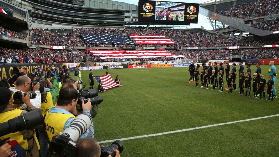 Pregame at Soldier Field between the USMNT and Costa Rica during Copa America Centenario