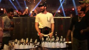 Kevin Love in Las Vegas celebrating the Cavs' championship.