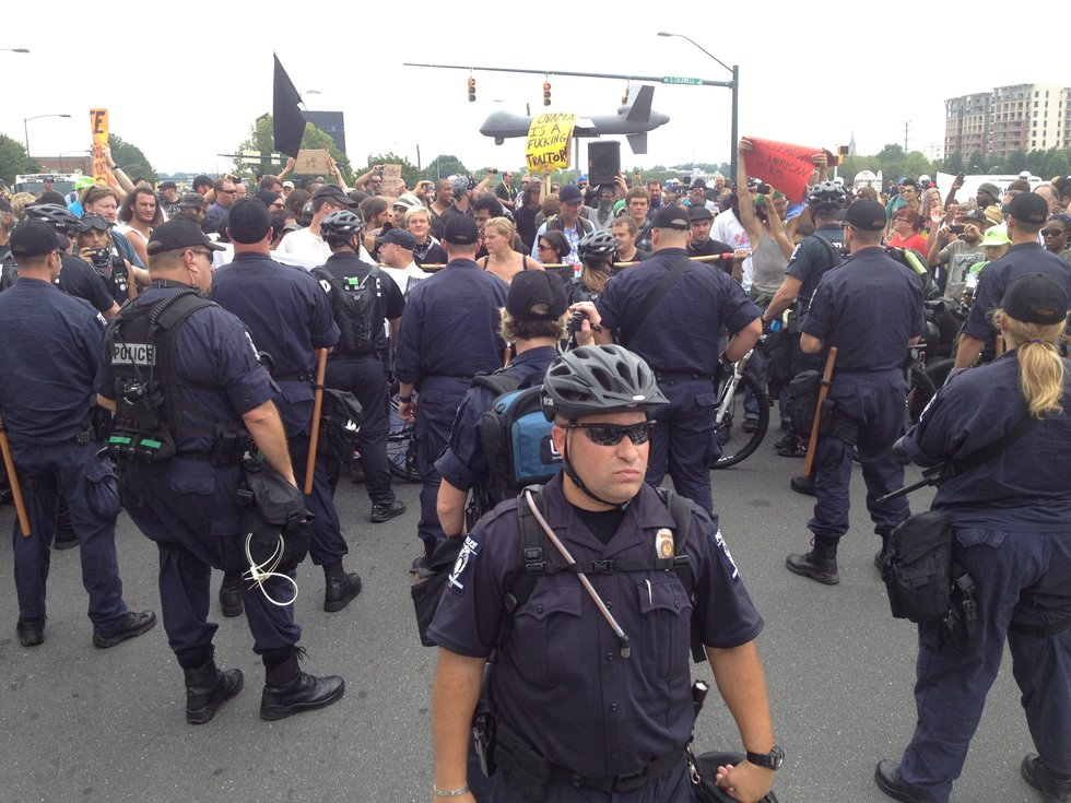 2012 DNC protesters and police