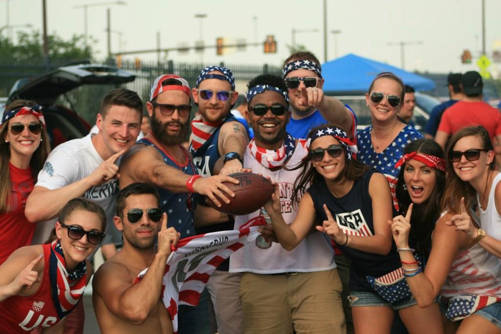 U.S. Soccer fans at the 2016 Copa America Centenario at the Linc.