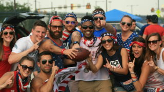 U.S. Soccer fans at the 2016 Copa America Centenario at the Linc.