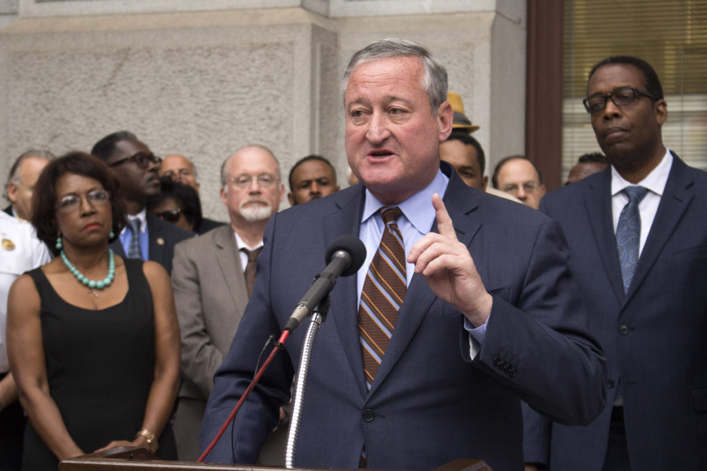 Mayor Jim Kenney at a news conference in June.