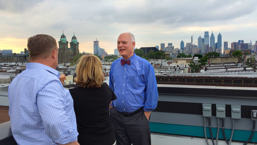 Atlantic City Mayor Don Guardian discusses redevelopment strategy on a tour of South Philly