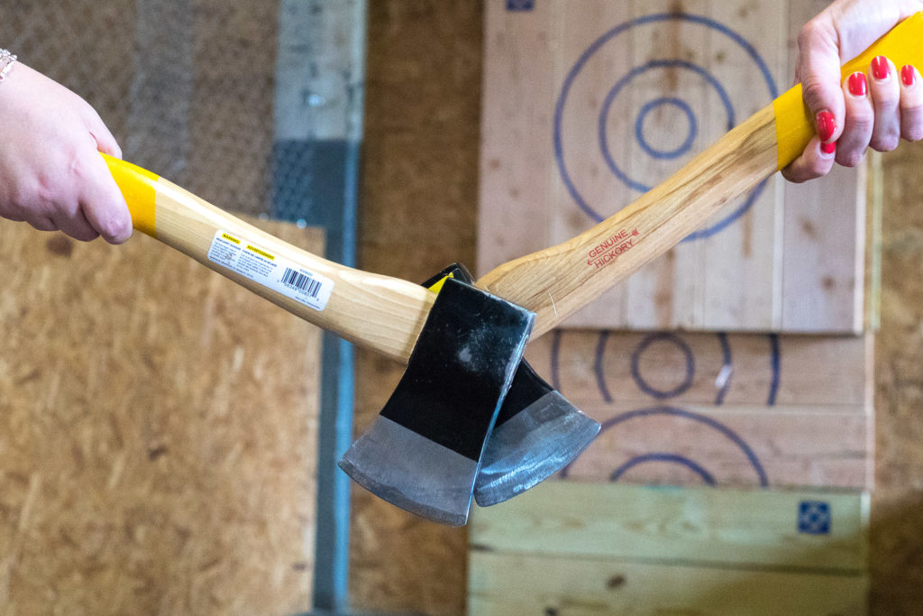 Axe-throwing is a ton of fun, no booze required