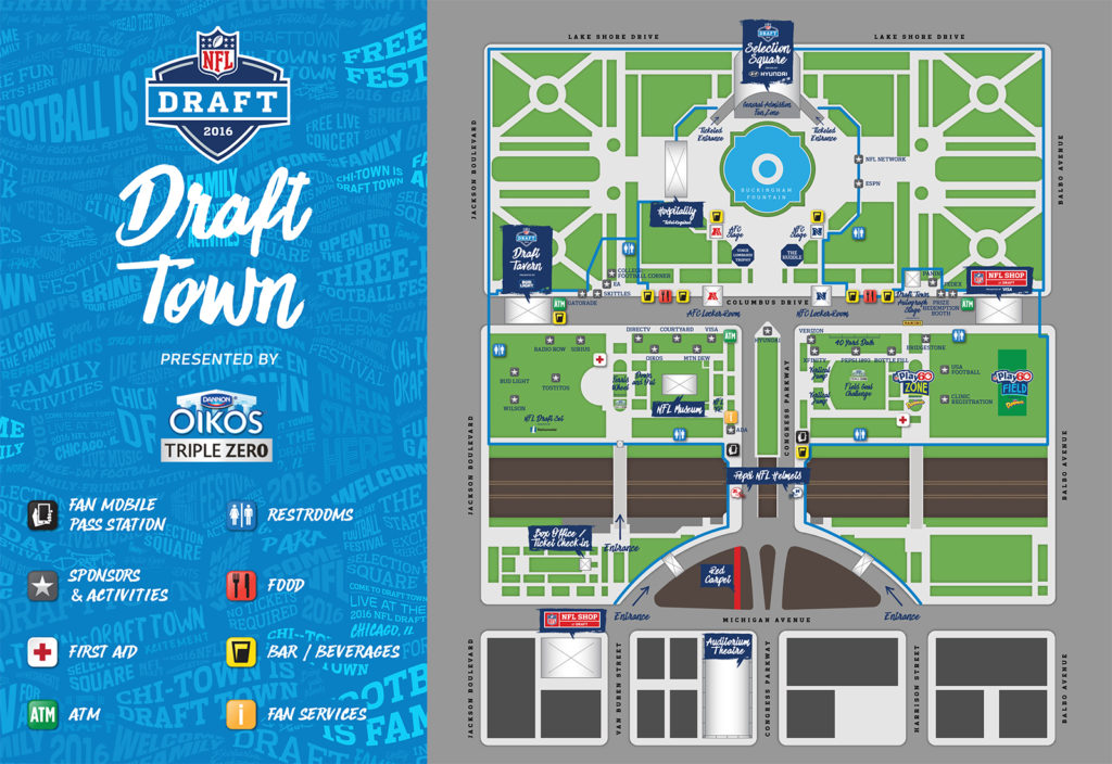 Chicago's 2016 Draft Town map