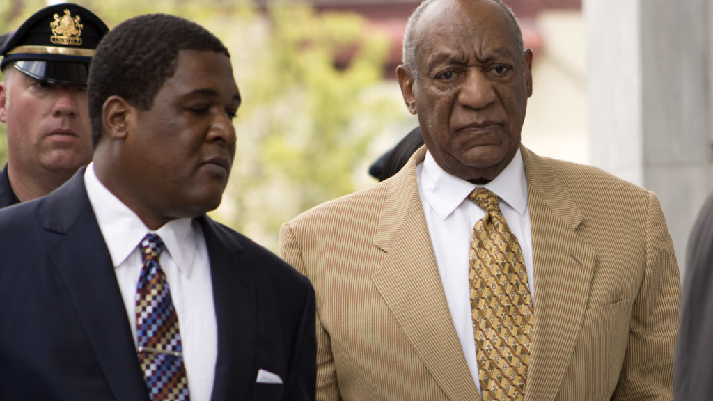 Bill Cosby arrives at the Montgomery County Courthouse in Norristown on July 7, 2016.