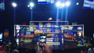 What it's like behind the scenes of The Daily Show's taping at Penn.