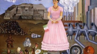 Self Portrait on the Border between Mexico and the United States of America (1932), Frida Kahlo.