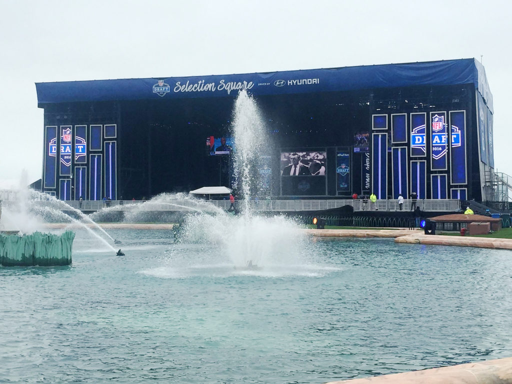 Chicago's Selection Square set up, as part of Draft Town.