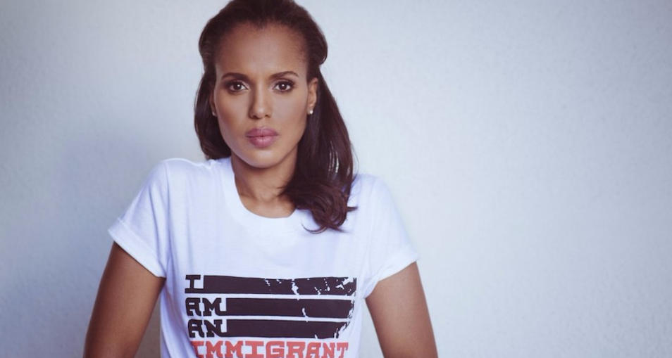"Kerry Washington, a Clinton supporter and star of the hit ABC show ""Scandal."""