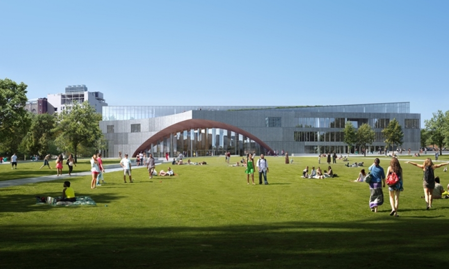 Rendering of Temple's new, state-of-the-art library.