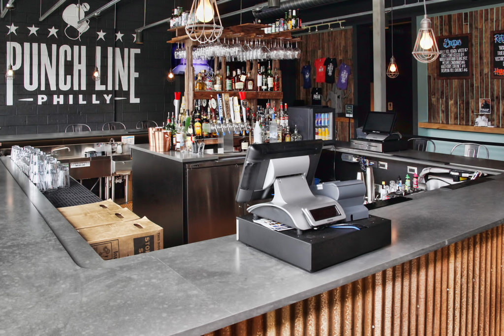 Not just comedy: There's a full bar and food menu