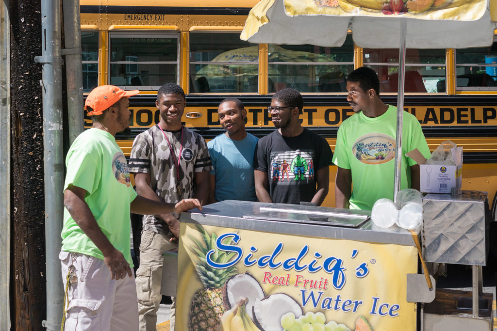 Moore has run the water ice cart at 13th and Montgomery for more than 20 years