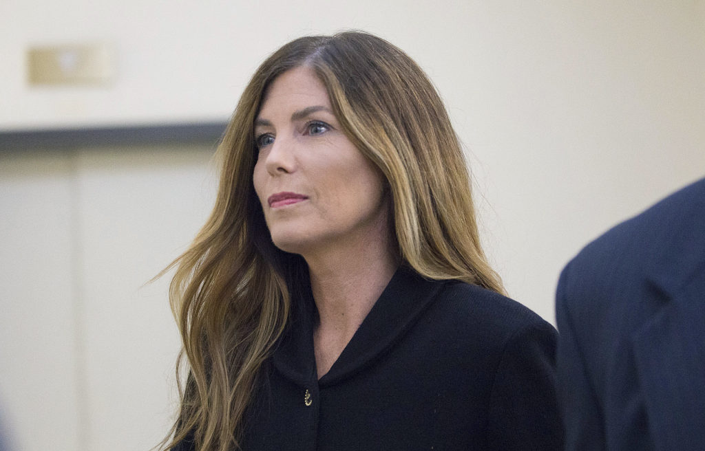 Pennsylvania Attorney General Kathleen Kane arrives at the Montgomery County Courthouse.