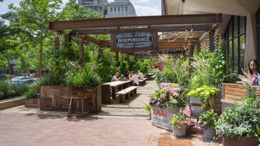 Independence Beer Garden and others like it have contributed to a rise in liquor tax revenue.