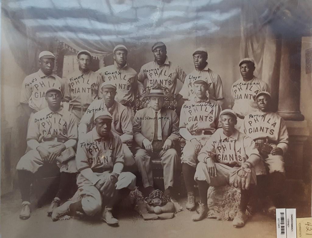 The 1908 Philadelphia Giants Negro League team