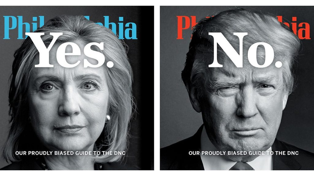 Philadephia magazine's dual covers for the Democratic National Convention.