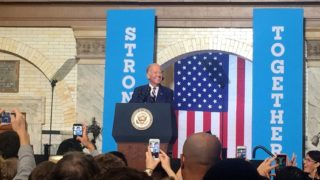Vice President Joe Biden speaks to students at Drexel University on voter registration day.