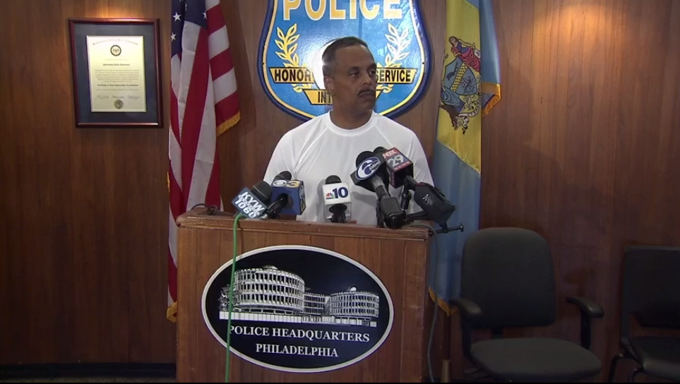 Police Commissioner Richard Ross briefs the media following a deadly shooting in September.