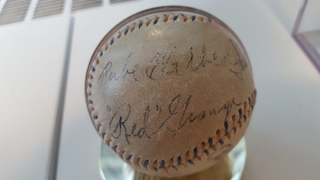 """Rube Walberg and """"Red"""" Grange autographs"""
