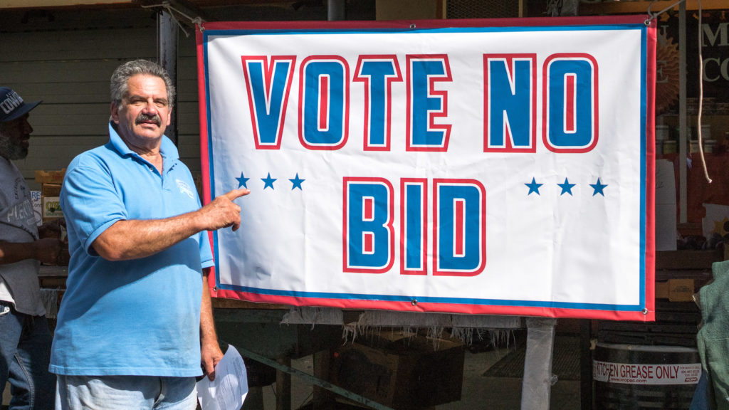 Italian Market property owner John Gargano is opposed to creating a new Business Improvement District