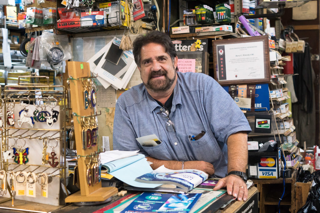 Barry Wilensky of Wilensky's Hardware is wary that the BID will benefit Ninth Street more than other areas