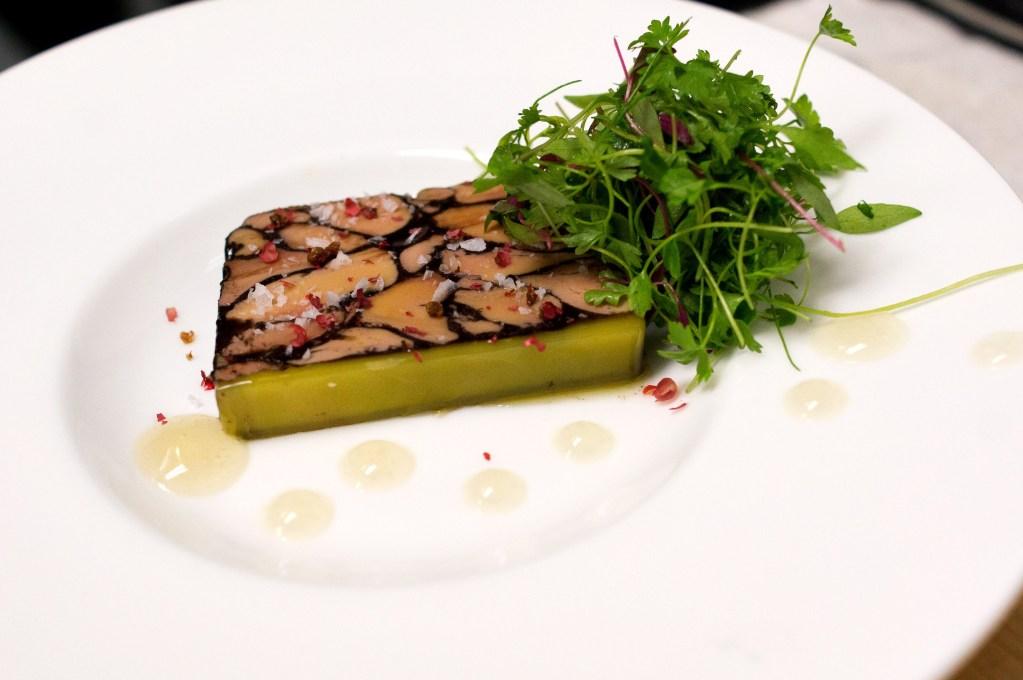 Foie gras terrine at Laurel, where chef-owner Nick Elmi calls Reserve 'intuitive'