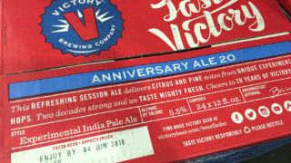 This photo of Victory Anniversary Ale on sale at Springfield beverage was shot Sept. 1