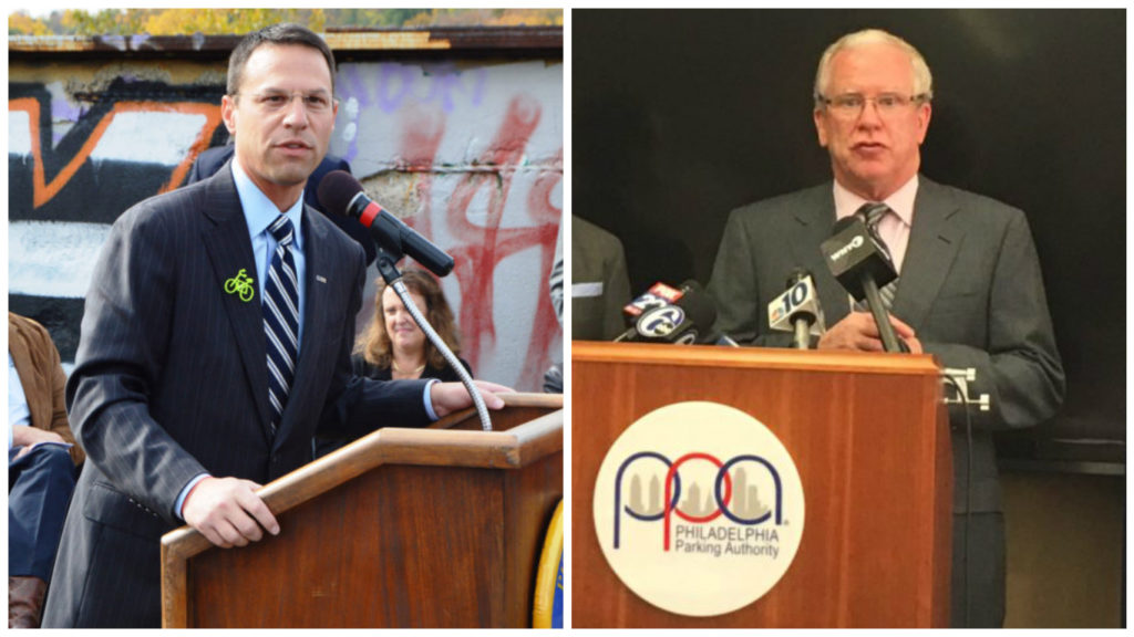 Left: Candidate for Attorney General Josh Shapiro. Right: Vince Fenerty, executive director of the PPA.