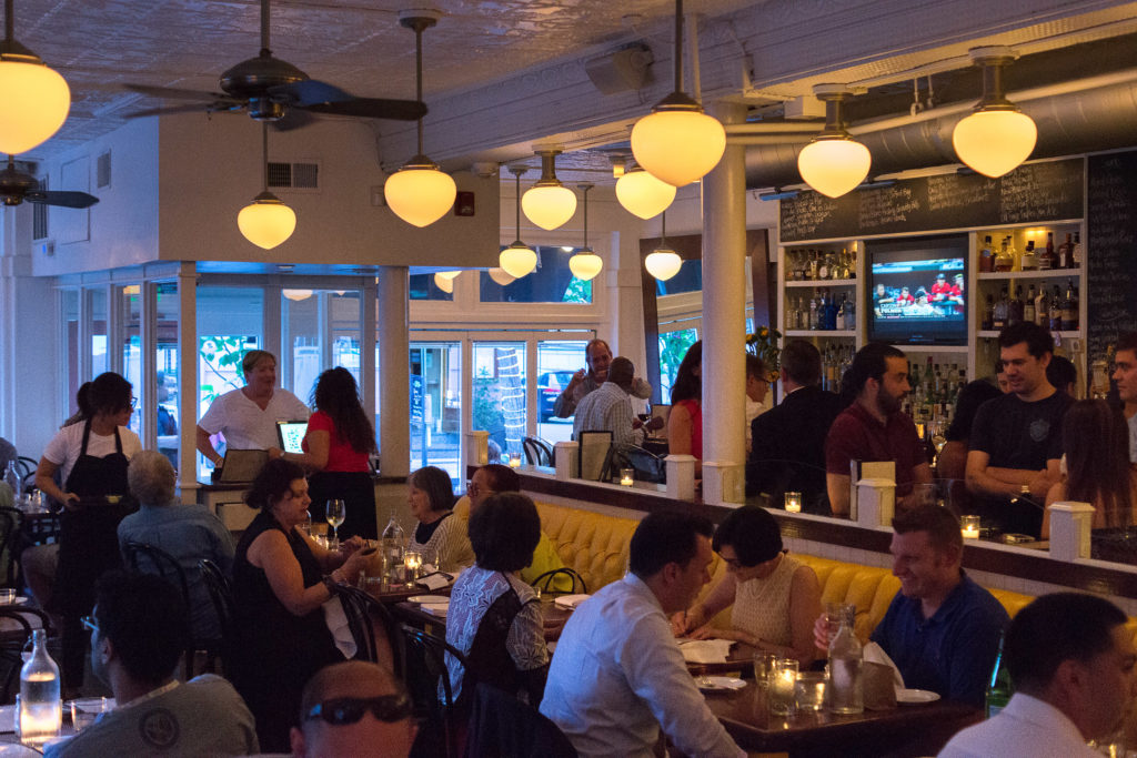 Dining room at Twenty Manning Grill, which stands to save $30,000 a year from the switch