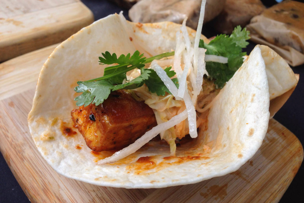 Korean taco from V Street, Vedge's sister restaurant, which has also made the switch