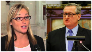 Left: State Rep. Martina White Right: Mayor Jim Kenney