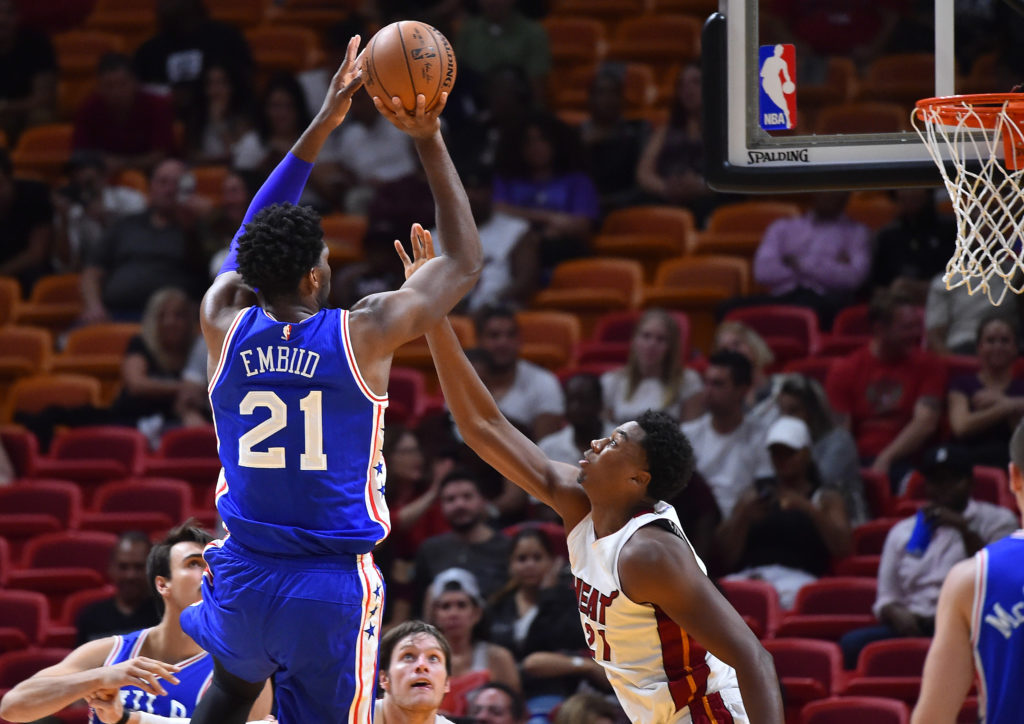 NBA: Preseason-Philadelphia 76ers at Miami Heat