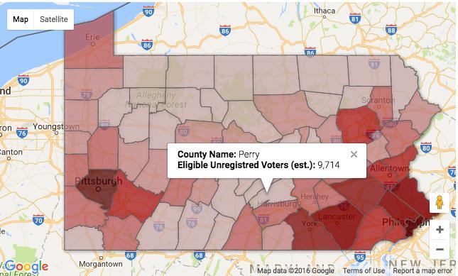 pennsylvania voter map