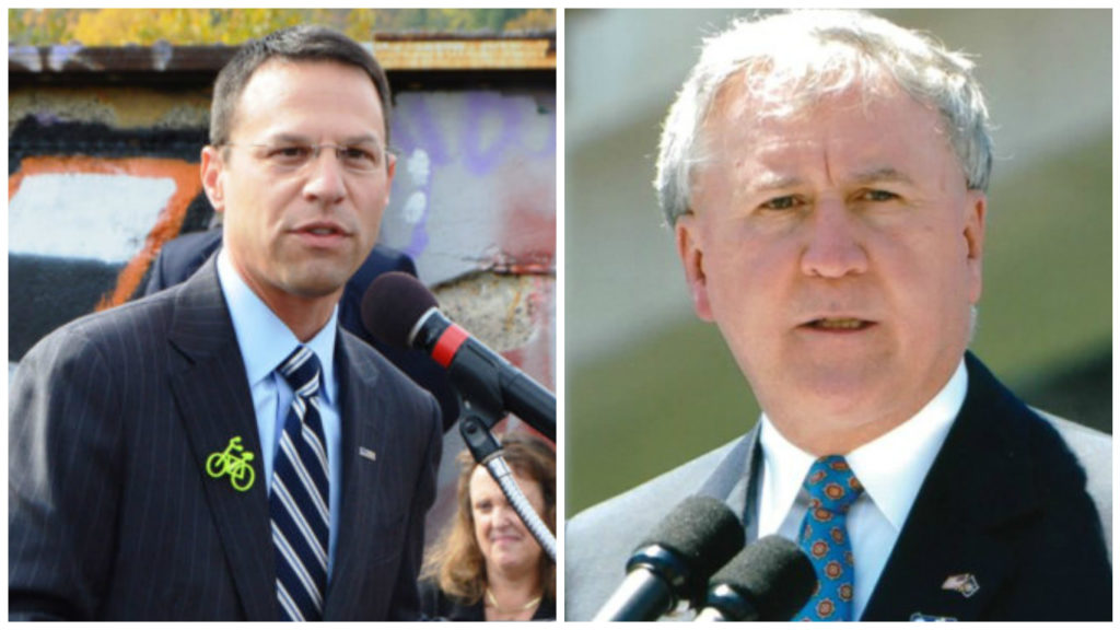 Left: Montgomery County commissioner Josh Shapiro. Right: State Sen. John Rafferty.