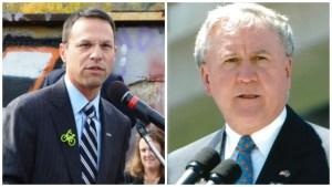 Left: Montgomery County commissioner Josh Shapiro. Right: State Sen. John Rafferty.