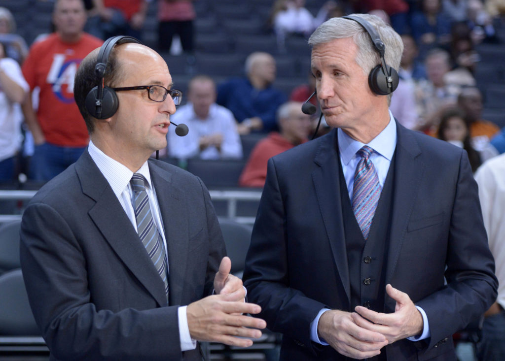 ESPN broadcasters Jeff Van Gundy and Mike Breen