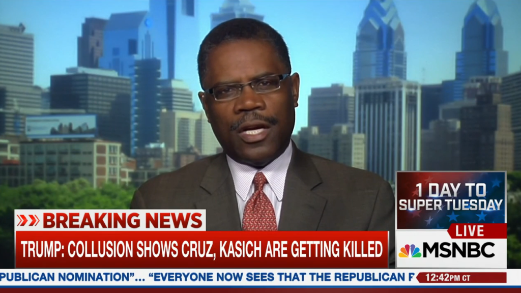 Calvin Tucker, a GOP delegate from Pennsylvania, talks on MSNBC before the primary.