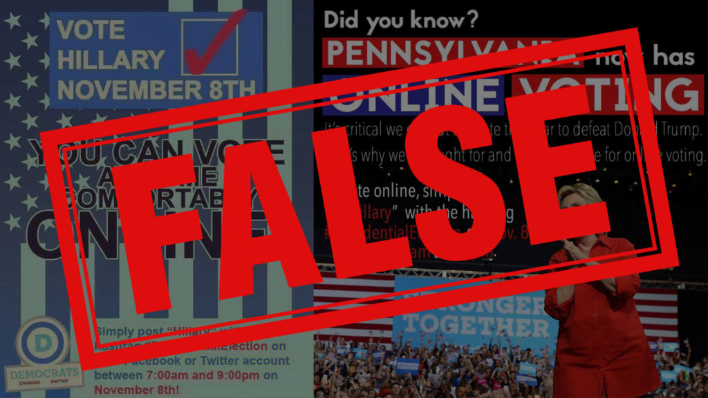 Pennsylvania does not have online voting, despite claims circulating on Facebook.