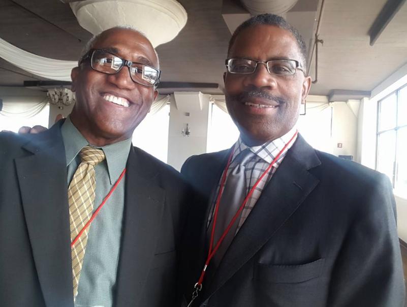 Congressional candidate James Jones, left, with Calvin Tucker.
