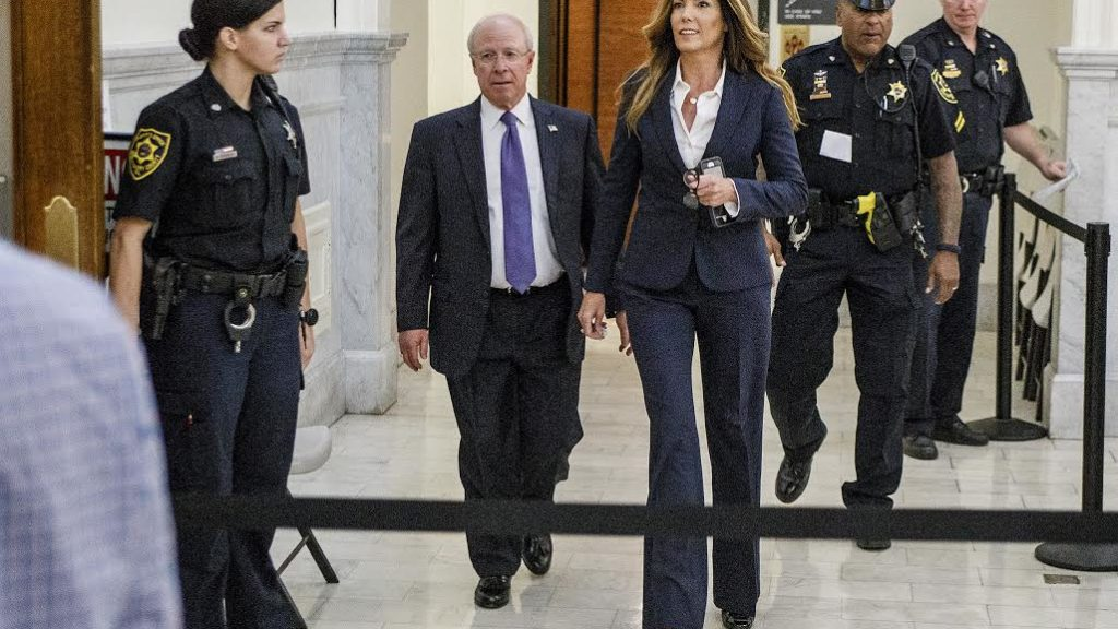 Former state Attorney General Kathleen Kane arrives for her sentencing at the Montgomery County Courthouse in Norristown, Pa., Monday, Oct. 24, 2016. In August, Kane was found guilty of felony perjury and an assortment of misdemeanors related to a leak of secret grand jury materials.