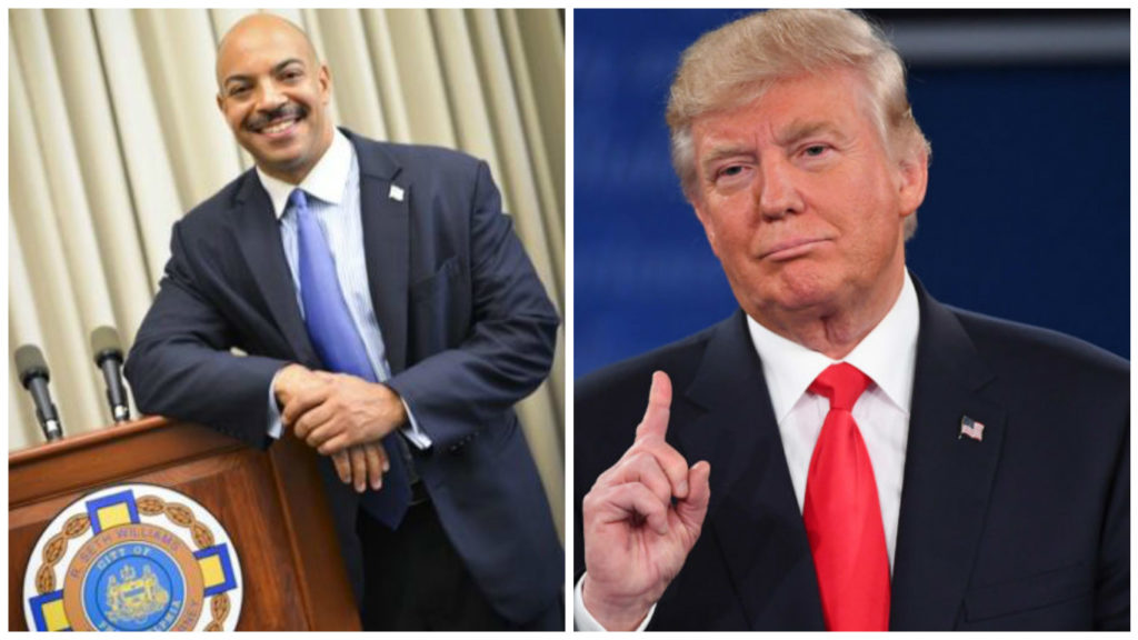 Left: Philadelphia District Attorney Seth Williams. Right: Republican presidential candidate Donald Trump.