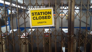 SEPTA strike Market Frankford Line station closed 2