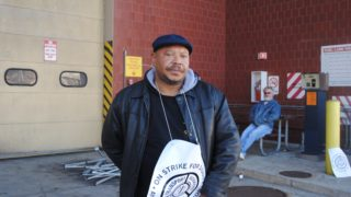 Hondu Brown, a strike captain, has been a bus operator for 29 years.