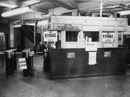 "From '75: ""Frankford L station closed during SEPTA strike"""