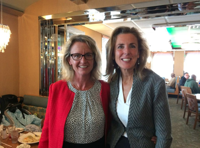 Left: Barbarann Keffer, candidate for the General Assembly. Right: U.S. Senate candidate Katie McGinty