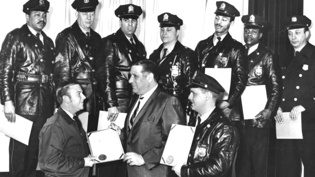 "Philadelphia Police officers  in 1969, just a few years after they started using the phrase ""Black Friday."""